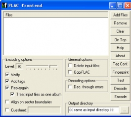 FLAC 开源无损音频压缩编码 V1.2.1a 多国语言版
